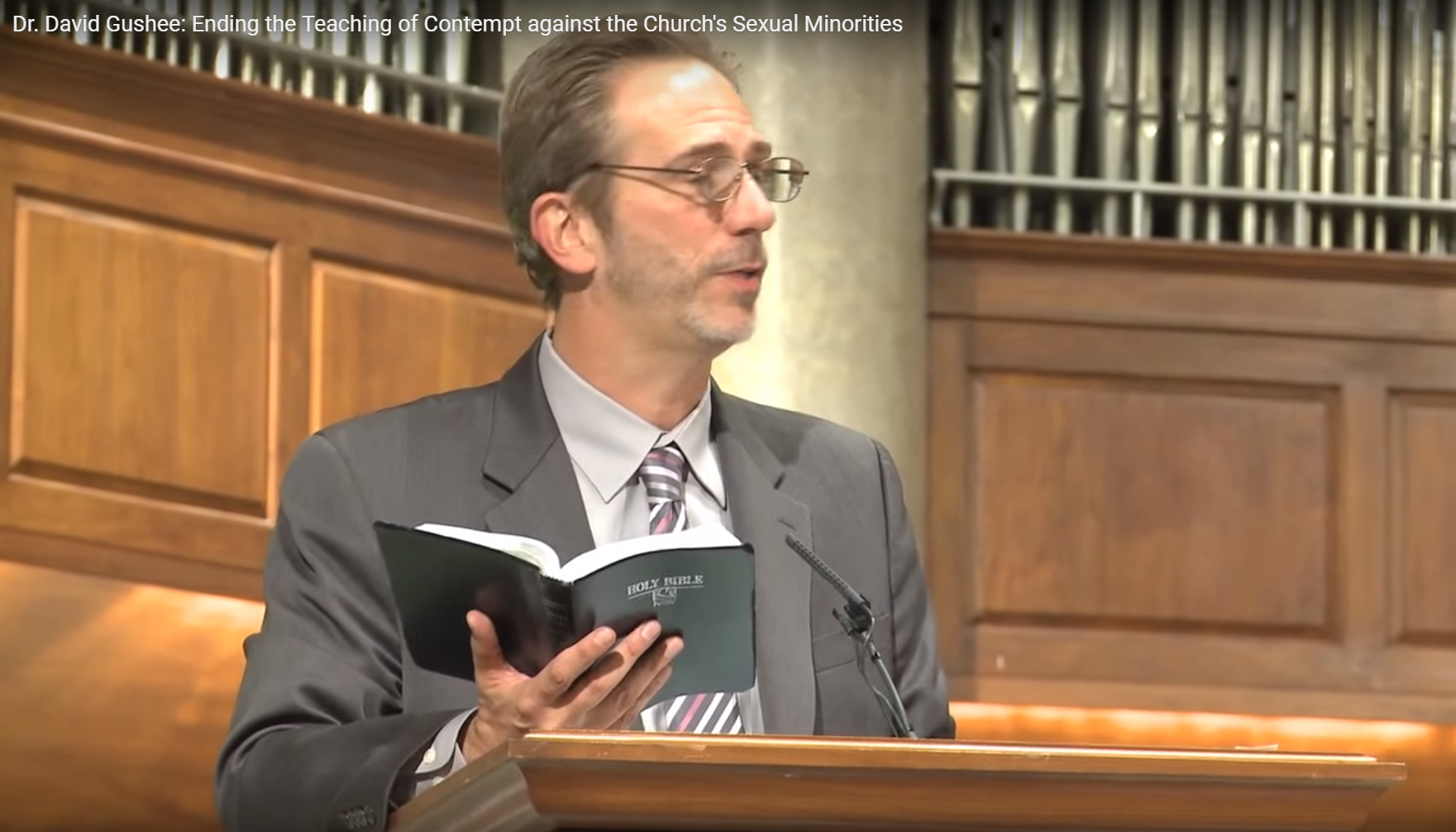 Dr. David Gushee: Ending the Teaching of Contempt against the Church's Sexual Minorities