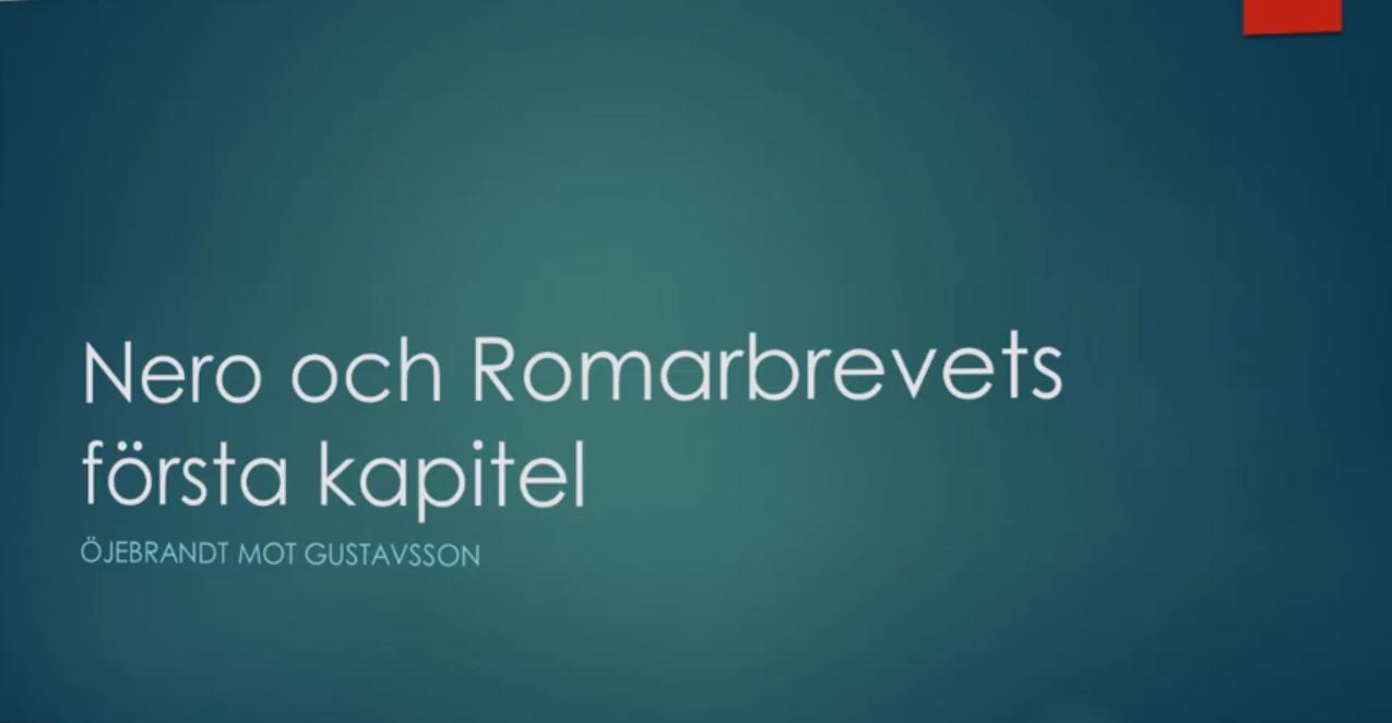 Replik – Bekänna färg (5) – Stefan Gustavsson – Nero och Romarbrevet
