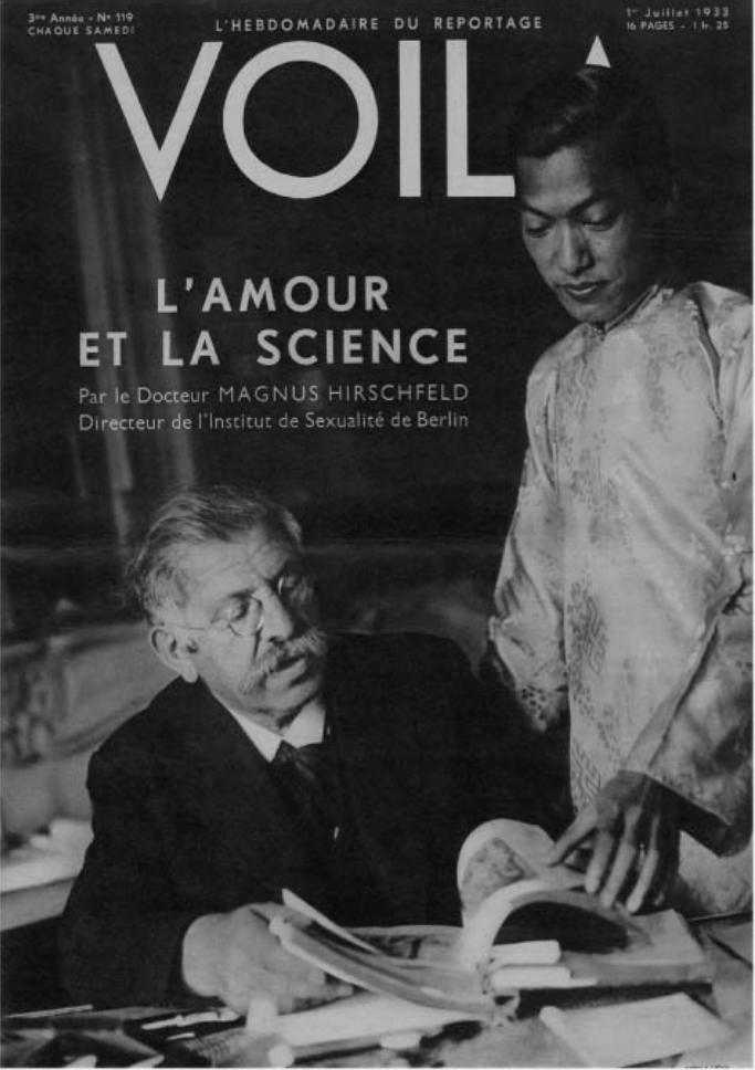 Magnus Hirschfeld and Li Shiu Tong in Paris,